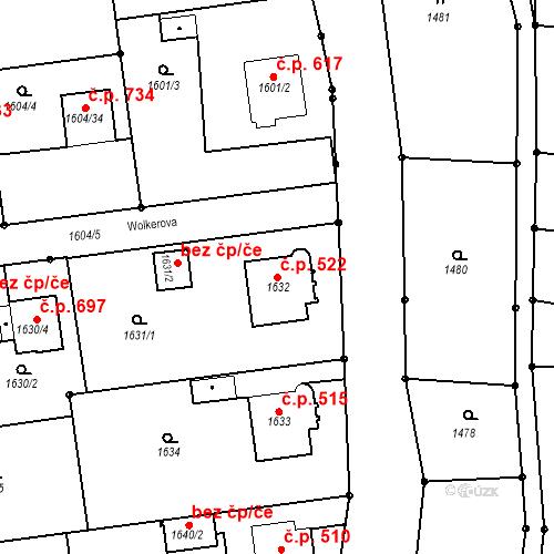 Katastrální mapa Stavební objekt Pražské Předměstí 522, Jaroměř