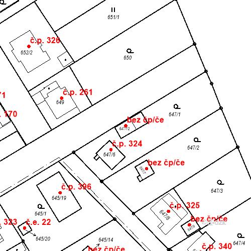 Katastrální mapa Stavební objekt Josefov 373, Jaroměř