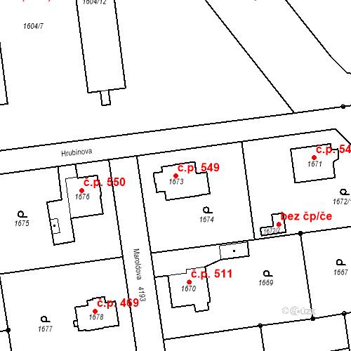 Katastrální mapa Stavební objekt Pražské Předměstí 549, Jaroměř