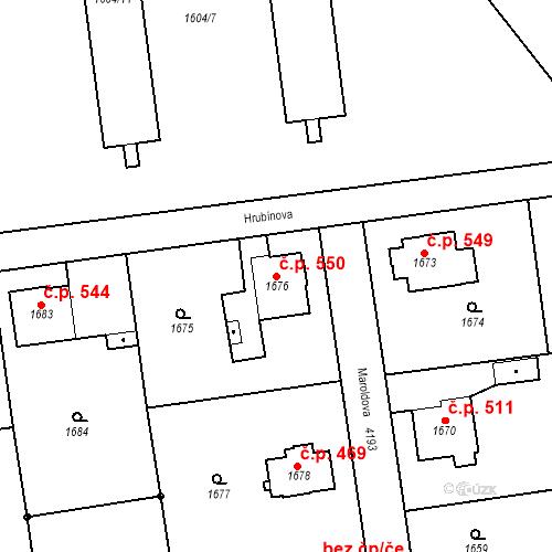 Katastrální mapa Stavební objekt Pražské Předměstí 550, Jaroměř