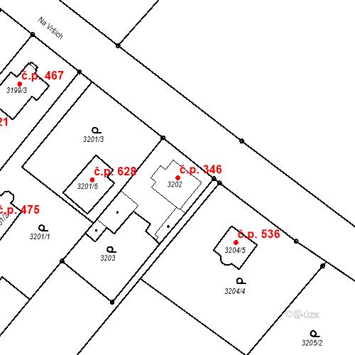 Katastrální mapa Stavební objekt Jakubské Předměstí 346, Jaroměř