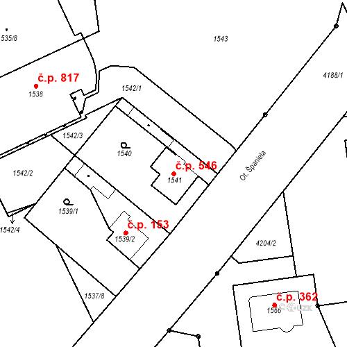 Katastrální mapa Stavební objekt Pražské Předměstí 546, Jaroměř