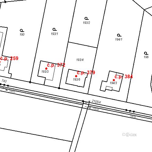 Katastrální mapa Stavební objekt Josefov 379, Jaroměř