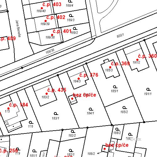 Katastrální mapa Stavební objekt Josefov 376, Jaroměř