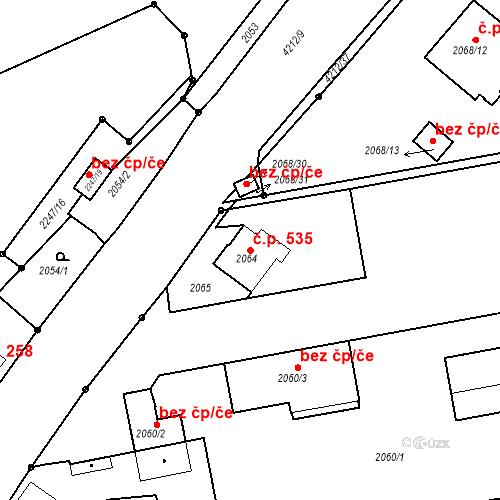 Katastrální mapa Stavební objekt Pražské Předměstí 535, Jaroměř