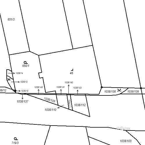 Katastrální mapa Stavební objekt Slezské Předměstí 83