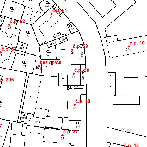 Katastrální mapa Stavební objekt Černožice 58, Černožice