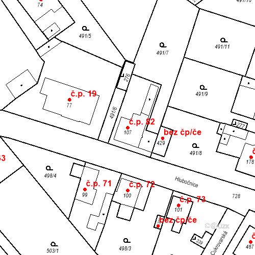 Katastrální mapa Stavební objekt Černožice 82, Černožice