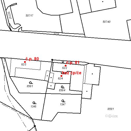Katastrální mapa Stavební objekt Slezské Předměstí 81, Hradec Králové