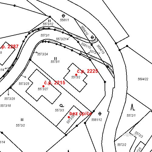 Katastrální mapa Stavební objekt Velké Meziříčí 2225, Velké Meziříčí