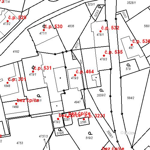 Katastrální mapa Stavební objekt Dvůr Králové nad Labem 464, Dvůr Králové nad Labem