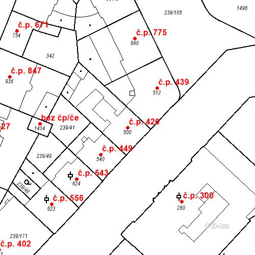 Katastrální mapa Stavební objekt Hradec Králové 426, Hradec Králové