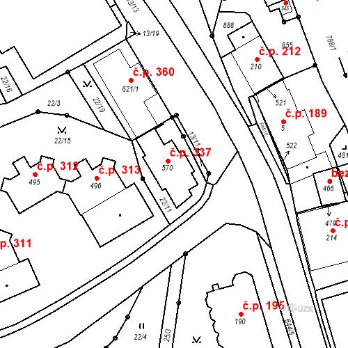 Katastrální mapa Stavební objekt Pec pod Sněžkou 337, Pec pod Sněžkou