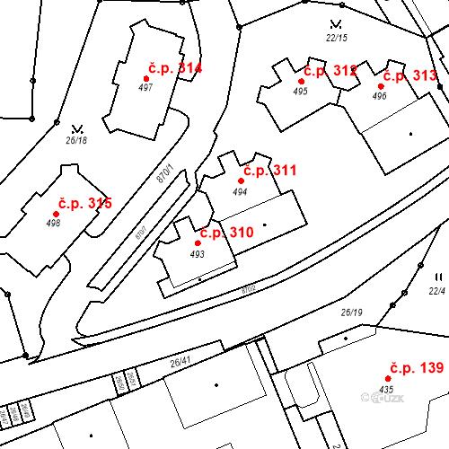 Katastrální mapa Stavební objekt Pec pod Sněžkou 311, Pec pod Sněžkou