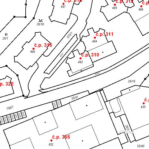 Katastrální mapa Stavební objekt Pec pod Sněžkou 310, Pec pod Sněžkou