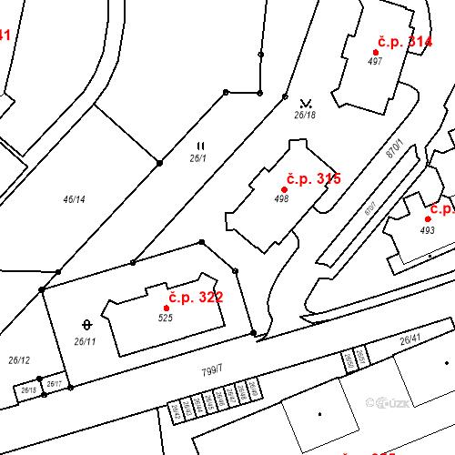 Katastrální mapa Stavební objekt Pec pod Sněžkou 315, Pec pod Sněžkou