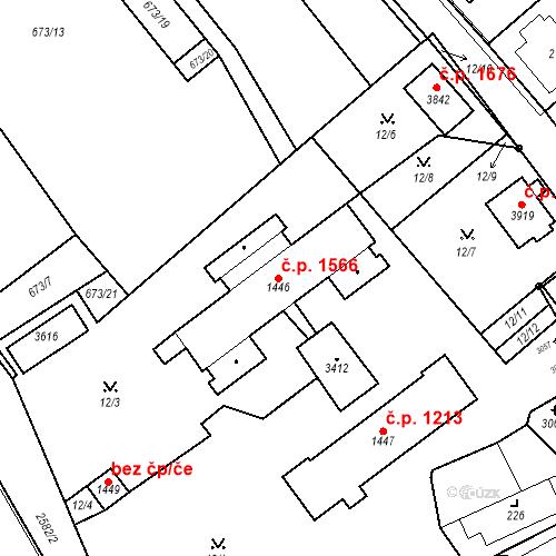 Katastrální mapa Stavební objekt Hlinsko 1566, Hlinsko