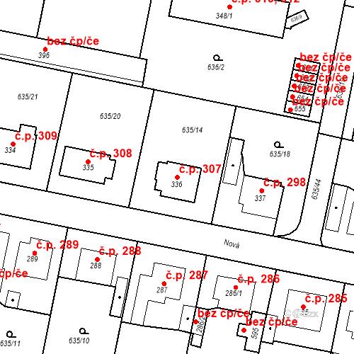 Katastrální mapa Stavební objekt Předměřice nad Labem 307, Předměřice nad Labem