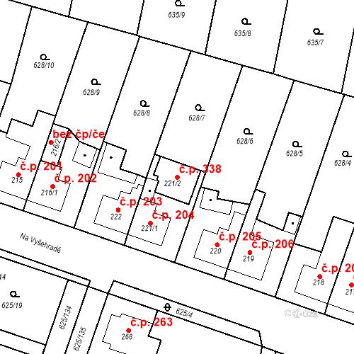 Katastrální mapa Stavební objekt Předměřice nad Labem 338, Předměřice nad Labem