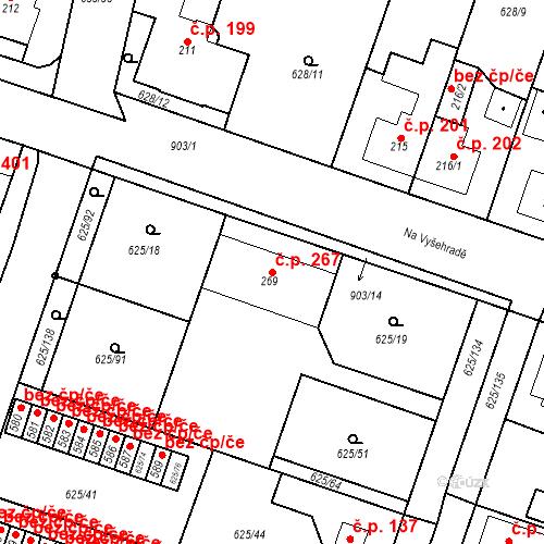 Katastrální mapa Stavební objekt Předměřice nad Labem 267, Předměřice nad Labem