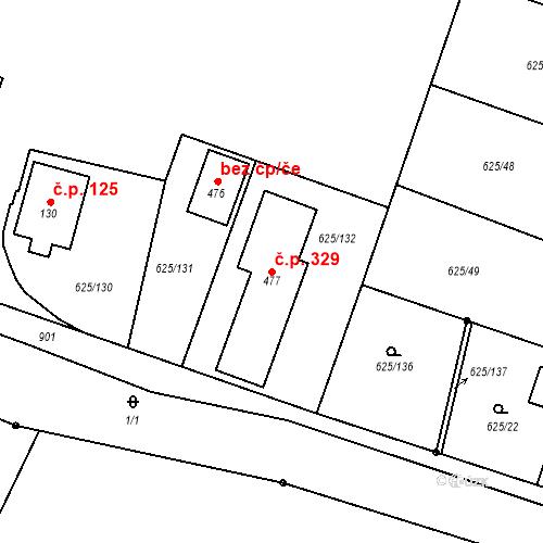 Katastrální mapa Stavební objekt Předměřice nad Labem 329, Předměřice nad Labem