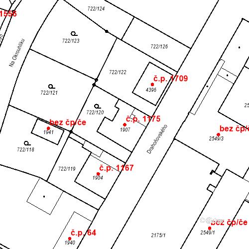 Katastrální mapa Stavební objekt Pražské Předměstí 1175, Hradec Králové