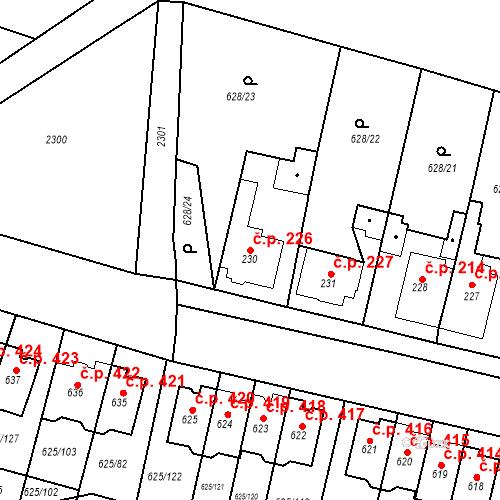 Katastrální mapa Stavební objekt Předměřice nad Labem 226, Předměřice nad Labem