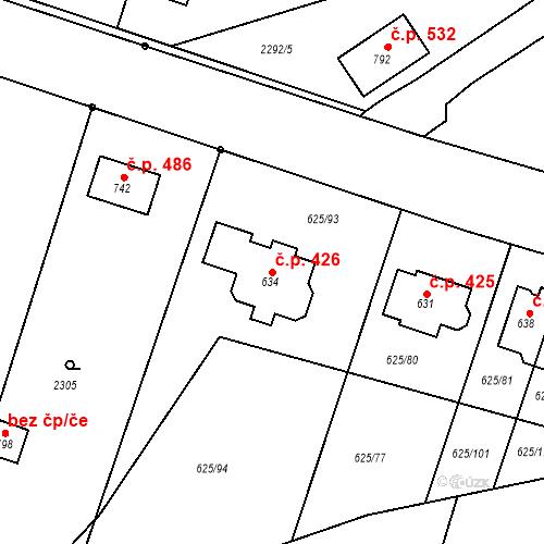 Katastrální mapa Stavební objekt Předměřice nad Labem 426, Předměřice nad Labem