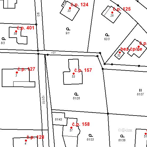 Katastrální mapa Stavební objekt Nový Nemojov 157, Nemojov