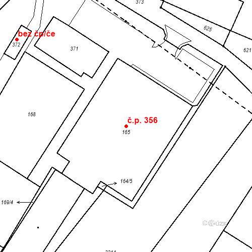 Katastrální mapa Stavební objekt Nové Veselí 356, Nové Veselí