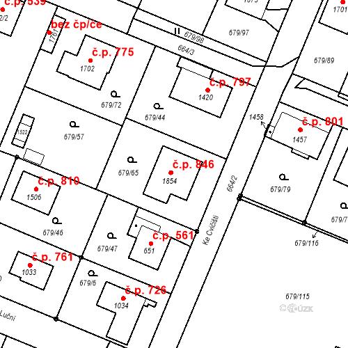 Katastrální mapa Stavební objekt Hostinné 846, Hostinné
