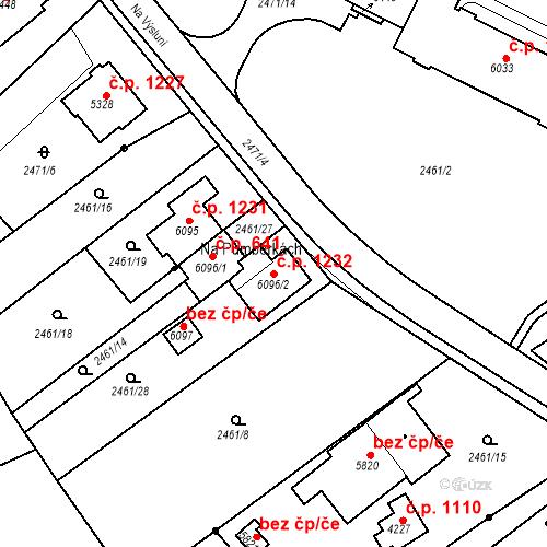 Katastrální mapa Stavební objekt Chrudim IV 1232, Chrudim