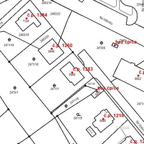 Katastrální mapa Stavební objekt Chrudim IV 1383, Chrudim