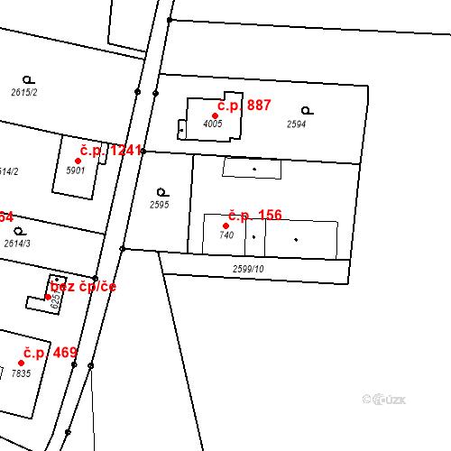 Katastrální mapa Stavební objekt Chrudim IV 156, Chrudim