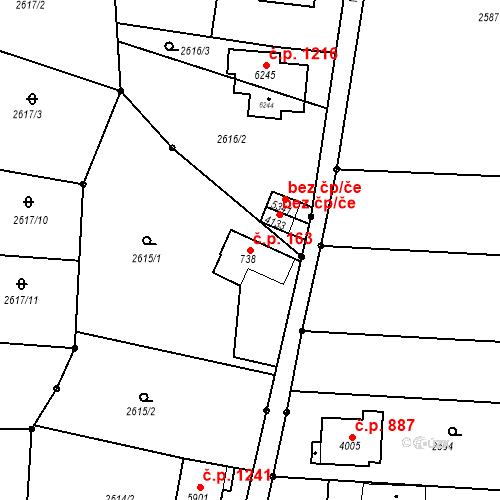 Katastrální mapa Stavební objekt Chrudim IV 163, Chrudim