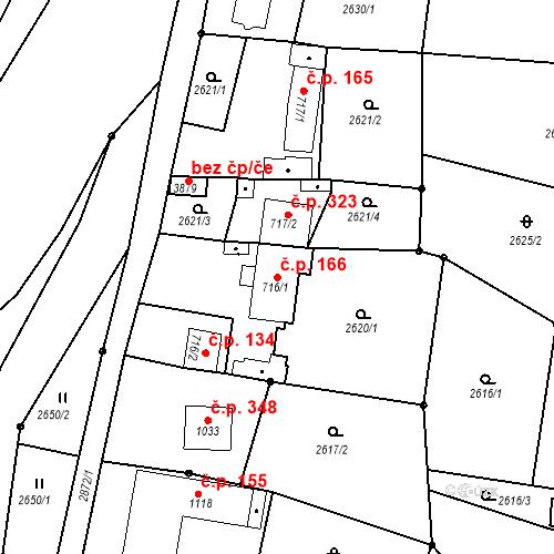 Katastrální mapa Stavební objekt Chrudim IV 166, Chrudim