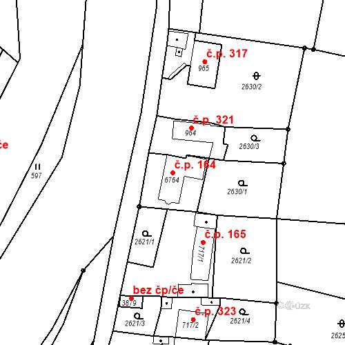 Katastrální mapa Stavební objekt Chrudim IV 164, Chrudim