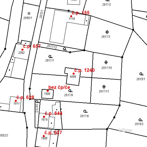 Katastrální mapa Stavební objekt Chrudim IV 1240, Chrudim