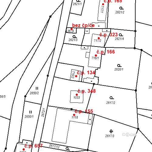 Katastrální mapa Stavební objekt Chrudim IV 134, Chrudim