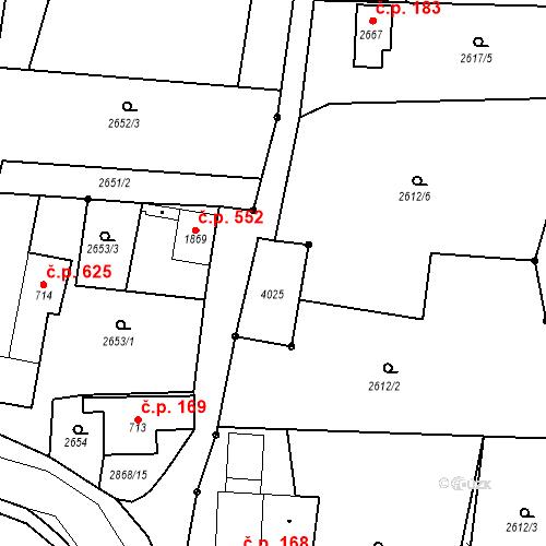 Katastrální mapa Stavební objekt Chrudim IV 167, Chrudim