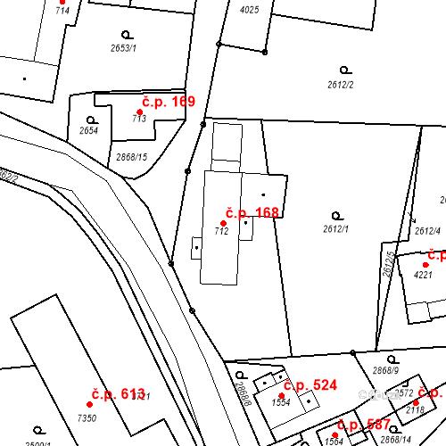 Katastrální mapa Stavební objekt Chrudim IV 168, Chrudim