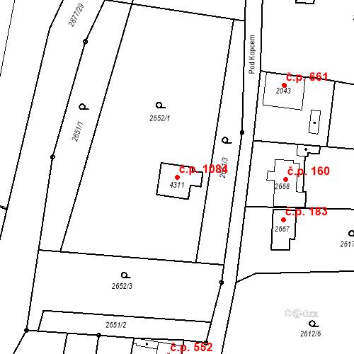 Katastrální mapa Stavební objekt Chrudim IV 1084, Chrudim