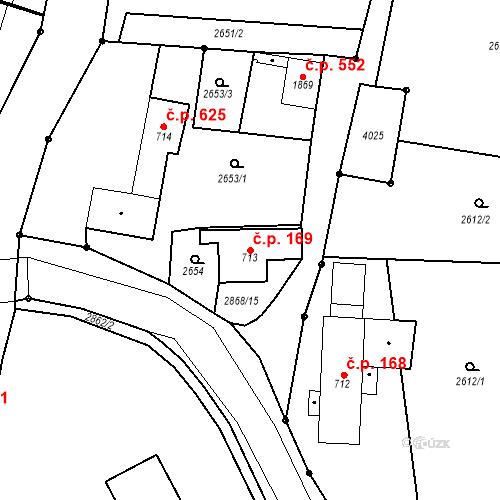 Katastrální mapa Stavební objekt Chrudim IV 169, Chrudim