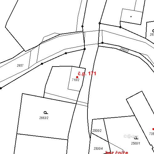 Katastrální mapa Stavební objekt Chrudim IV 171, Chrudim