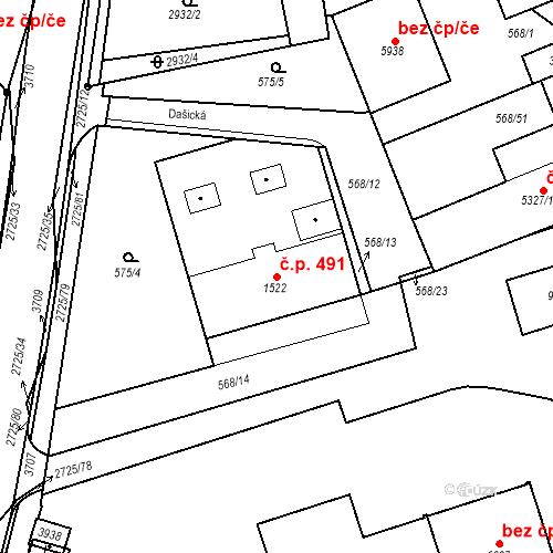 Katastrální mapa Stavební objekt Chrudim IV 491, Chrudim
