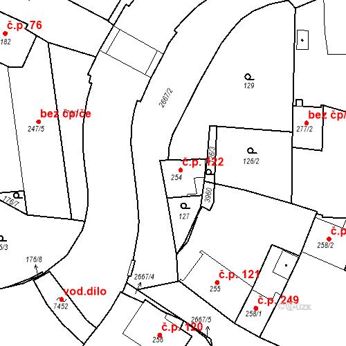 Katastrální mapa Stavební objekt Chrudim IV 122, Chrudim