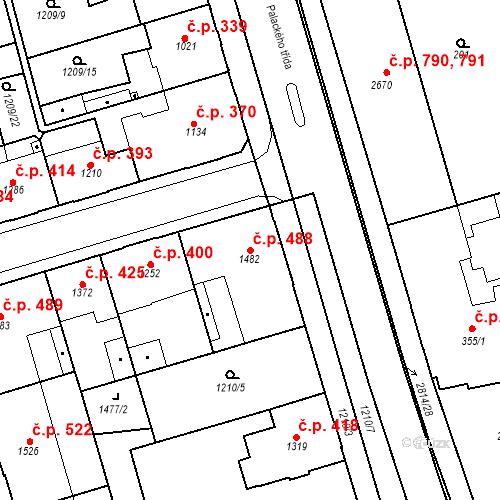 Katastrální mapa Stavební objekt Chrudim IV 488, Chrudim