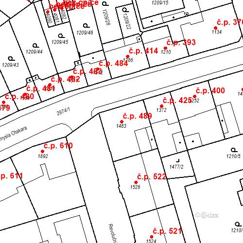 Katastrální mapa Stavební objekt Chrudim IV 489, Chrudim