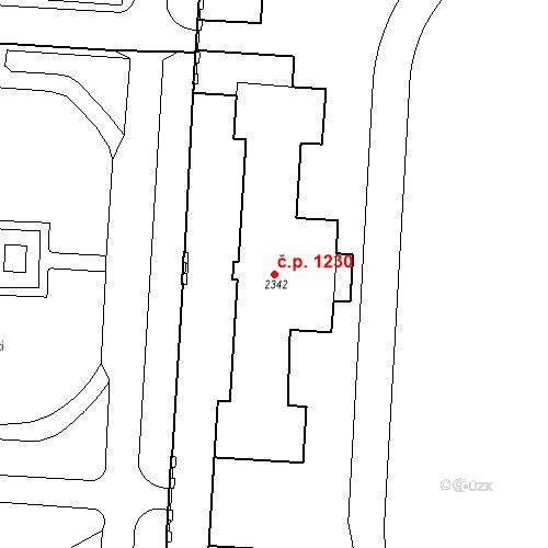 Katastrální mapa Stavební objekt Zelené Předměstí 1230, Pardubice