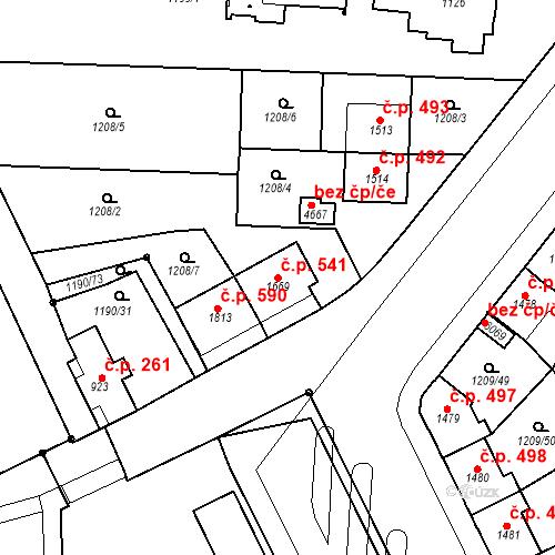 Katastrální mapa Stavební objekt Chrudim IV 541, Chrudim